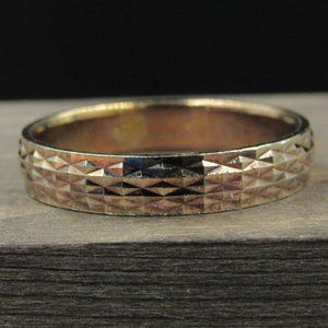 Size 8.75 Sterling Textured Copper Tone Band
